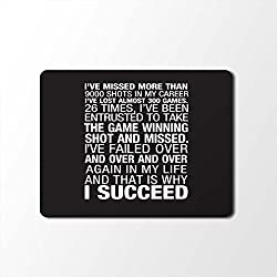 Mouse Pad | Inspirational Quotes Designer Mouse Pad | Designer High Quality Waterproof Coating Gaming Mouse Pad