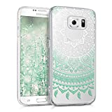 kwmobile Samsung Galaxy S6 / S6 Duos Hülle - Handyhülle für Samsung Galaxy S6 / S6 Duos - Handy Case in Mintgrün Weiß Transparent