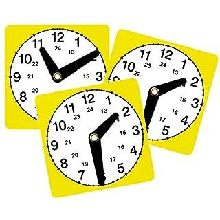 Unbekannt Lernuhr 3er-Set - Uhr lesen Lernen Kinder Uhrzeit Zeit ablesen Schule Lehrmittel Lernmittel Lehrmaterialien Mathematik Grundschule Rechnen