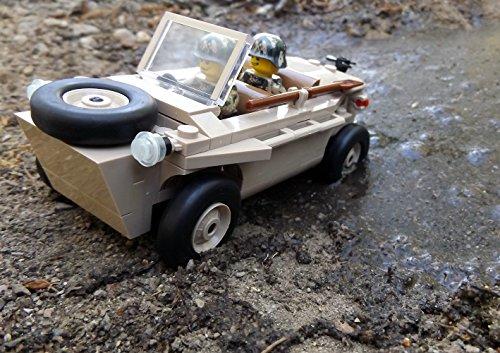 Modbrix 2188 – ☠ Bausteine VW Typ 166 Schwimmwagen XX Divison inkl. Custom Elite Wehrmacht Soldaten aus Lego© Teilen ☠ - 4