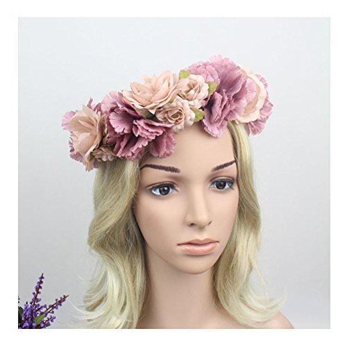 jelinda couronne de fleurs bandeau de cheveux accessoire de tete pour femme follement bijoux. Black Bedroom Furniture Sets. Home Design Ideas
