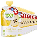 Good Goût - BIO - Gourde de Purée de Fruits Pomme Coing dès 6 Mois 120 g - Pack de 10