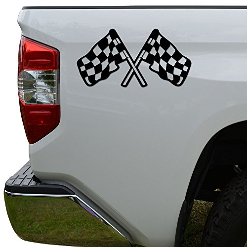 Rosie Decals Checkered Racing Flag Nascar Indy Die Cut Vinyl Decal Sticker for Car Truck Motorcycle Window Bumper Wall Decor Size- [6 inch/15 cm] Wide Color- Black -