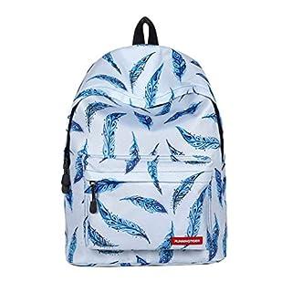ACMEDE Unisex School Backpack Light Weight Travel Laptop Rucksack 11.81*6.69*15.74 Inch (L*W*H)