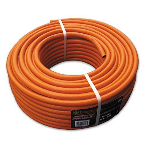 Bradas pb92525 Tuyau de Gaz Propane 9 x 2,5 mm, Orange, 20 x 20 x 10 cm