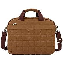 OXA lienzo bolsa de negocio Messenger Bag Bolsa de viaje bolsa de hombro bolso bolsa bolso bandolera bolso de escuela bolso trabajo maletín Crossbody Bolsa Bolsa de bolsa de ordenador portátil para la mayoría de 15pulgadas portátil marrón marrón Mediano
