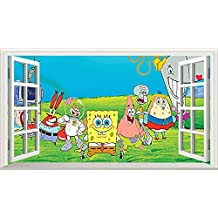 Chicbanners Bob Esponja Squarepants V301 Magic - Adhesivo Decorativo para Pared (1000 mm de Ancho