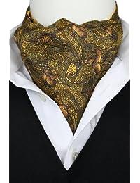 Elegant Pheasant on Gold Fine Silk Cravat