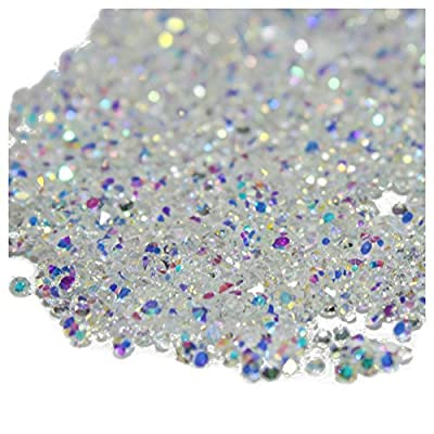 Micro Diamond - TOOGOO(R) 1440Pcs Micro Diamond DIY Nails Rhinestones Crystal Flat Back Non Hotfix Rhinestones Need Glue Nail Art Decoration Cosmetics, AB Colors