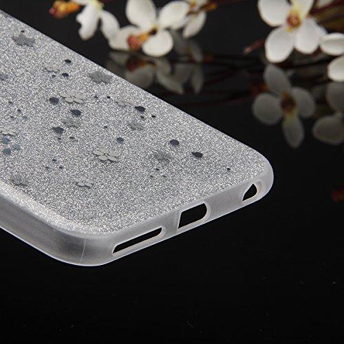 Cover iPhone 6S Plus,Cover iPhone 6 Plus, ikasus® iPhone 6S Plus / 6 Plus Case Custodia Cover [Hard PC + TPU] Protettiva Trasparente con il modello che scorre copertura dura di plastica trasparente Cu Argento prugna Fiore