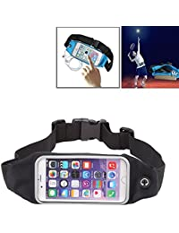 Waterproof Sports Waist Bag Pouch With Earphone Hole For IPhone 6 & 6s(Black)