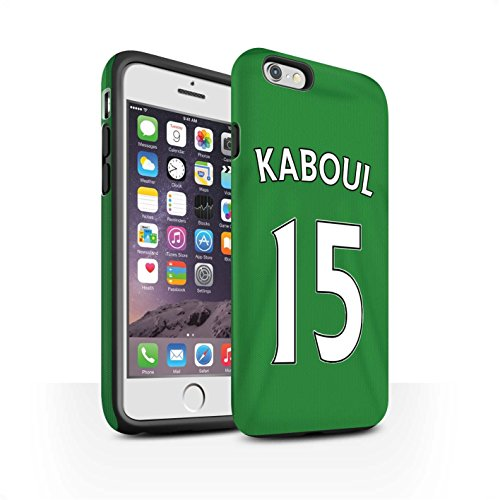 Offiziell Sunderland AFC Hülle / Matte Harten Stoßfest Case für Apple iPhone 6 / Jones Muster / SAFC Trikot Away 15/16 Kollektion Kaboul