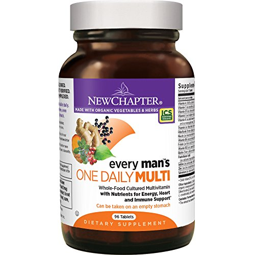 96 count: New Chapter Every Man's One Daily, Men's Multivitamin Fermented with Probiotics + Selenium + B Vitamins + Vitamin D3 + Organic Non-GMO Ingredients - 96 ct