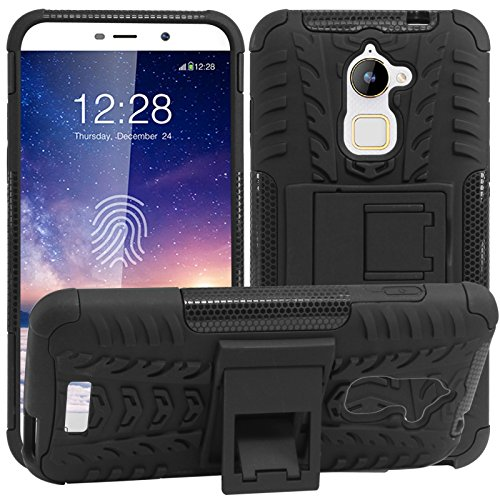 DMG Rugged Back Cover Mesh Kickstand Armor Case for Coolpad Note 3 Lite (Black)