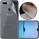 Case Creation Ultra Thin Slim Fit 3M Clear Transparent 3D Carbon Fiber Back Skin Rear Screen Guard Protector Sticker Protective Film Wrap Not Glass for Oppo F9 Pro (Carbonn)