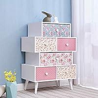 Cherry Tree Furniture CANTERBURY Wooden Cabinet Range, Rose & Polka Dot Pattern