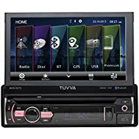 """TUVVA AVN7875 7"""" Sinle DIN Car Stereo Touch Screen GPS Navigation, DVD/ CD/ USB/ AUX-IN/ PhoneLink/ RDS/ Remote Control"""