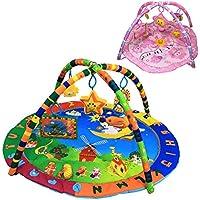 Monsieur Bébé® Tappeto da gioco per il risveglio sensoriale cognitivo e musicale + giochi - (Parco Specchio Rotondo)