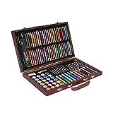 Beneu 116-teiliges Kind-Kunst Aquarellstifte Malerei Set mit Koffer, Farbe Bleistifte Crayons Zeichnung lernen Schreibwaren für Kinder Geburtstag Geschenke