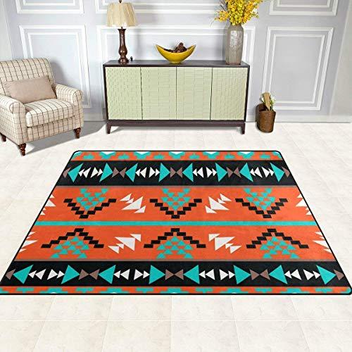 Guoey tappeti tappeto di feltro 5'x7', etnici tribali aztec geometrica antiscivolo in poliestere soggiorno sala da pranzo camera da letto ingresso tappeto tappetino home decor