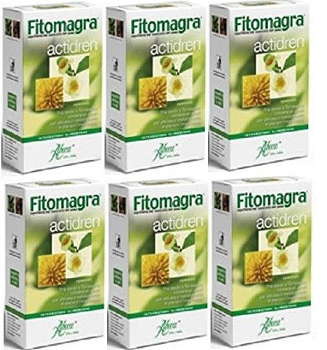 aboca-6-x-fitomagra-actidren-40-opercoli-per-confezione-the-verde-e-tarassaco-concentrati-totali-per