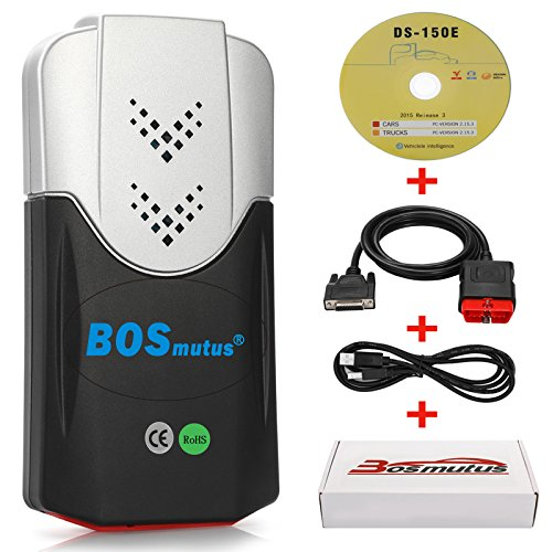 Bosmutus VCD DS VD CDP TCS CDP Pro + 150E, OBD2 Bluetooth, Lecteur de Scanner OBD 2 / EOBD, Outils Diagnostics pour Système de Moteur OBD-II (Noir) - Logiciel: V2015.R3