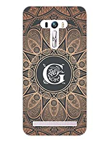 Asus Zenfone Selfie Back Cover - Initial G - Classy And Personalised - Designer Printed Hard Shell Case