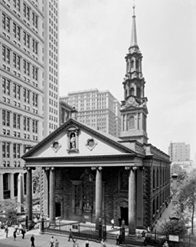 USA New York City Broadway St. Paul's Chapel Poster Drucken (60,96 x 91,44 cm)