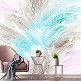 3D Wandbild Wallpaper Nordic Einfache Abstrakte Aquarell Ästhetische Feder Wohnzimmer Schlafzimmer Tv Hintergrund Fototapete, 260X180 Cm (102,36X70,87 In)