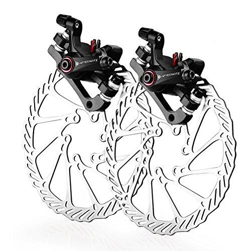 AFTERPARTZ NV-5 Fahrrad Scheibenbremse Satz Mechanisch G3 160mm Scheibe, V&H schwarze Sattel mit Bremsbeläge