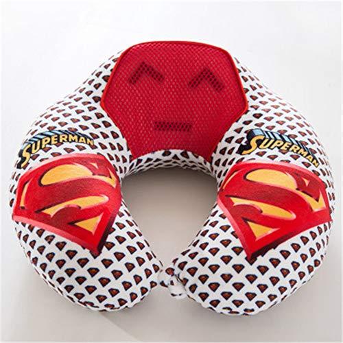 BBQBQ Kissen Office u-Shaped Pillow car Airplane travel Pillow nap Neck Pillow Superman 30 * 30cm