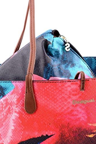 Desigual Tasche Capri Rep Reversible Aquarelle + Pochette MULTICOULEUR