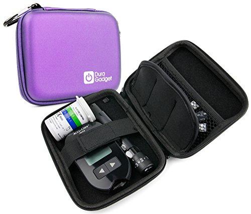 DURAGADGET violett starr Insulin Diabetes Medical Supplies Shell Reise/Aufbewahrung Schutzhülle mit Dual-Reißverschluss Netzfach und Innenfach