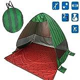 F.lashes Neu Stilvoll Strandzelt, Extra Leicht Automatik Strandmuschel mit Boden Sonnenschutz UV-Schutz, Familie Tragbares Strand-Zelt Outdoor Beach Tent Tragbar