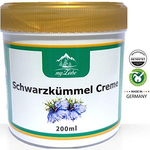 Schwarzkümmel Creme 200 ml wohltuende Wirkung bei Neurodermitis, Akne oder Schuppenflechte - Ekzeme Salbe
