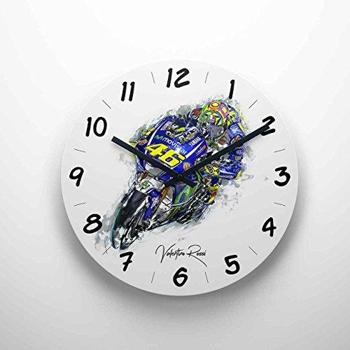 GP-Clock - Valentino Rossi - 01 | Wanduhr 29 cm