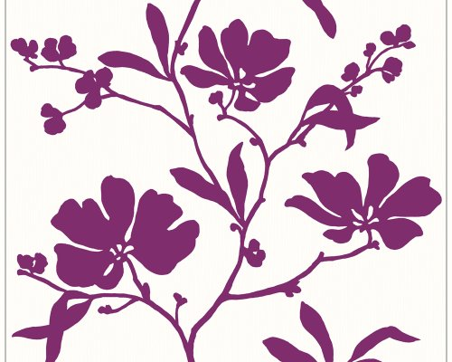 stapete Wonderful Colour Tapete floral 10,05 m x 0,53 m lila weiß Made in Germany 227829 2278-29 ()
