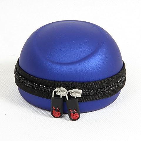 Hermitshell Hart EVA Lagerung Tasche Schutz hülle Etui Tragetasche Beutel Compact Größen für 3Dconnexion Mouse Spacenavigator 3D Maus 3DX 3DX-700028 3DX-70034 3DX-70043 Farbe: Blau