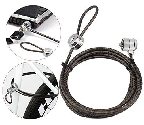 Cerradura de Seguridad para Ordenador portátil con Cerradura de Cable de Seguridad con Llave para Ordenador portátil de sobremesa portátil y Otros Dispositivos