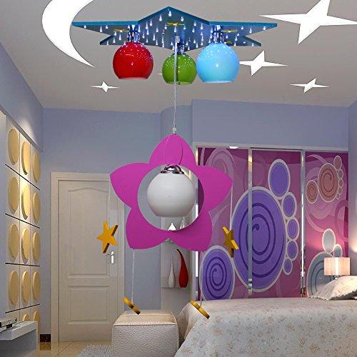 Kinderschlafzimmerlampe LED-Kronleuchter Kronleuchter kreative Cartoon junge Mädchen Kinderzimmer Kinder Auge, Beleuchtung