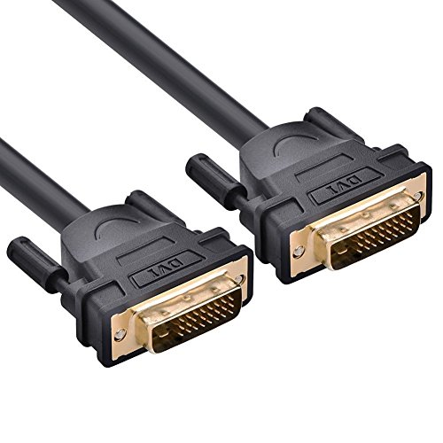 Pruthvik™ Hi-Speed Gold Plated 24+1 DVI-D Dual Link Male to Male Digital Analog Monitor Video Cable (4.5ft-1.5M)-2Year Warranty
