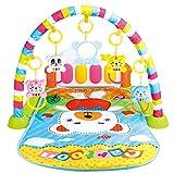 Piano Gym Baby Spielbogen, Baby Musikpedal Klavier Fitness Rack, Infant Musik Fußpedometer Game Pad Aktivität Fitness Decke, ab Geburt