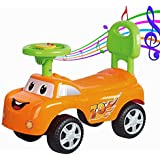 Baybee Stylesh Ride On Car With Music | Push Car Ride On Toy Suitable Kids For 1 To 3 Years - Orange