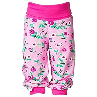 JNY Colourful Kids Baby Girls Pull-On Trousers Pants Baby Crawling Pants Play Shorts Pants Ladybird - Shocking Pink, 56 cm