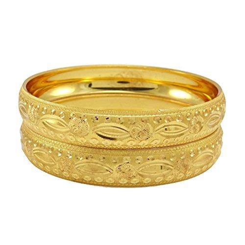 Banithani 18K Micron Vergoldet Ethnischen Traditionellen Indischen Armband-Armband-Set Schmuck 2 * 6