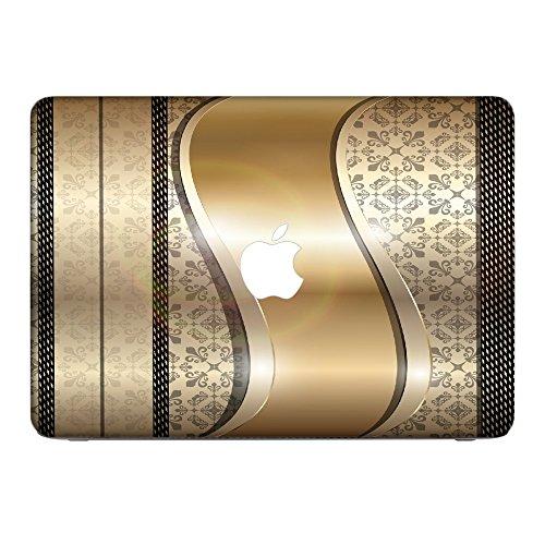 Opal 10005, Retro, Skin-Aufkleber Folie Sticker Laptop Vinyl Designfolie Decal mit Ledernachbildung Laminat und Farbig Design für Apple MacBook Pro Retina 13