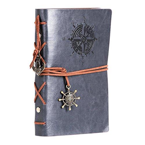 zedtom-cuaderno-de-viajes-vintage-recargable-de-poliuretano-multicolor-color-gris