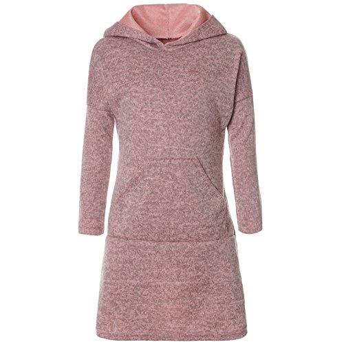 BEZLIT Mädchen Pullover Kleid Long Tunika Langarm Kapuze 21579 Rosa Größe 152