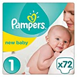 Pampers Premium Protection Baby Windeln, Gr.1 Newborn (2-5 kg), Halbmonatsbox, 1er Pack (1 x 72 Stück)