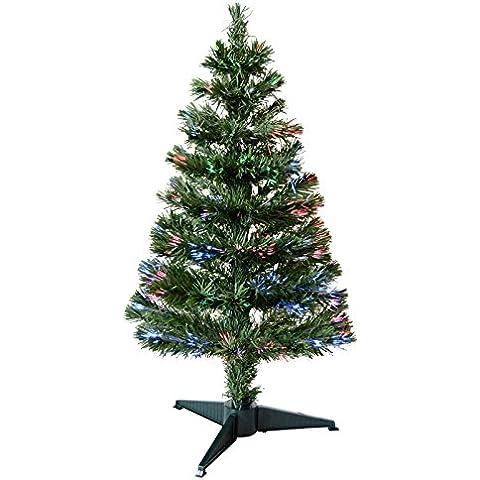 0,9 M 90cm Splendido Verde Fibra Ottica Artificiale Interno Natale